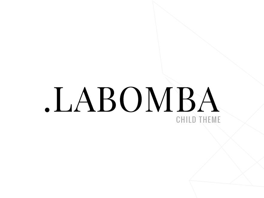 Labomba Child WordPress page template