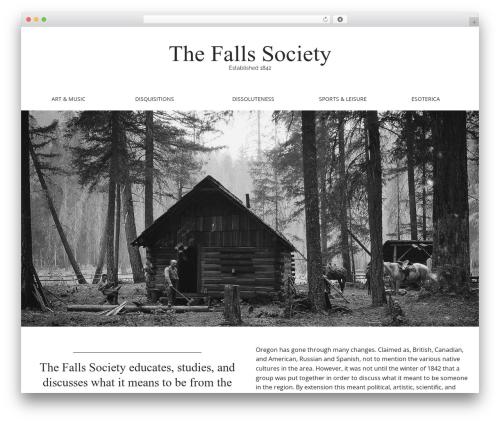 Matheson free WordPress theme - thefallssociety.com