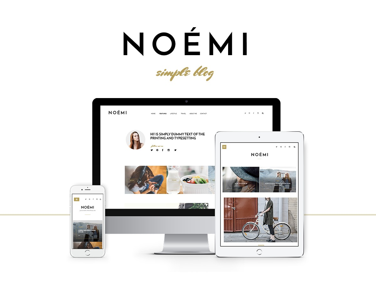 Noemi WordPress blog template