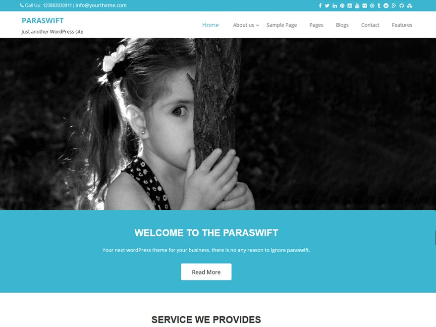 Paraswift free WordPress theme