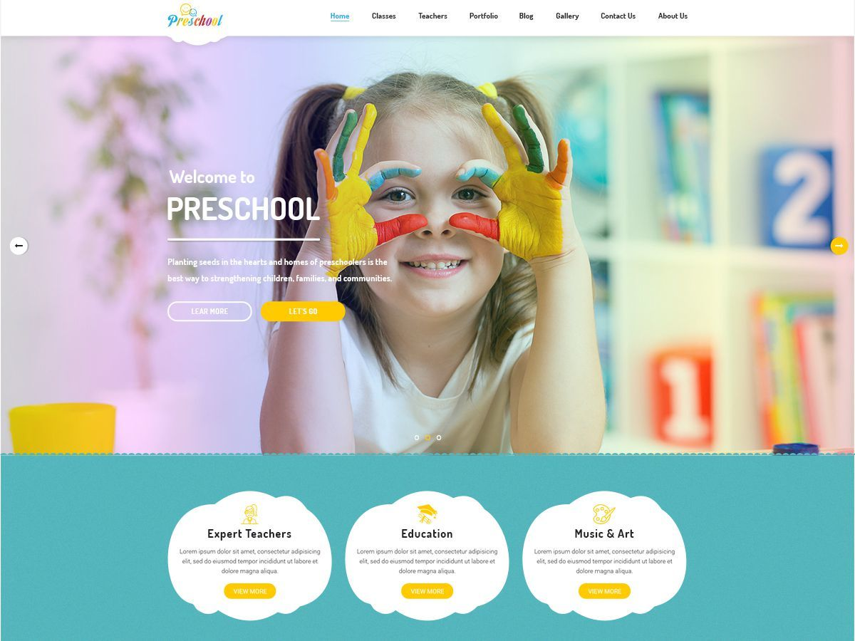 Preschool best WordPress video theme