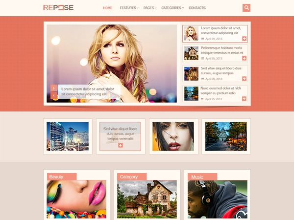 Repose by MyThemeShop WordPress template for business