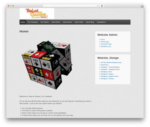 Responsive free WP theme - twist-on-games.com