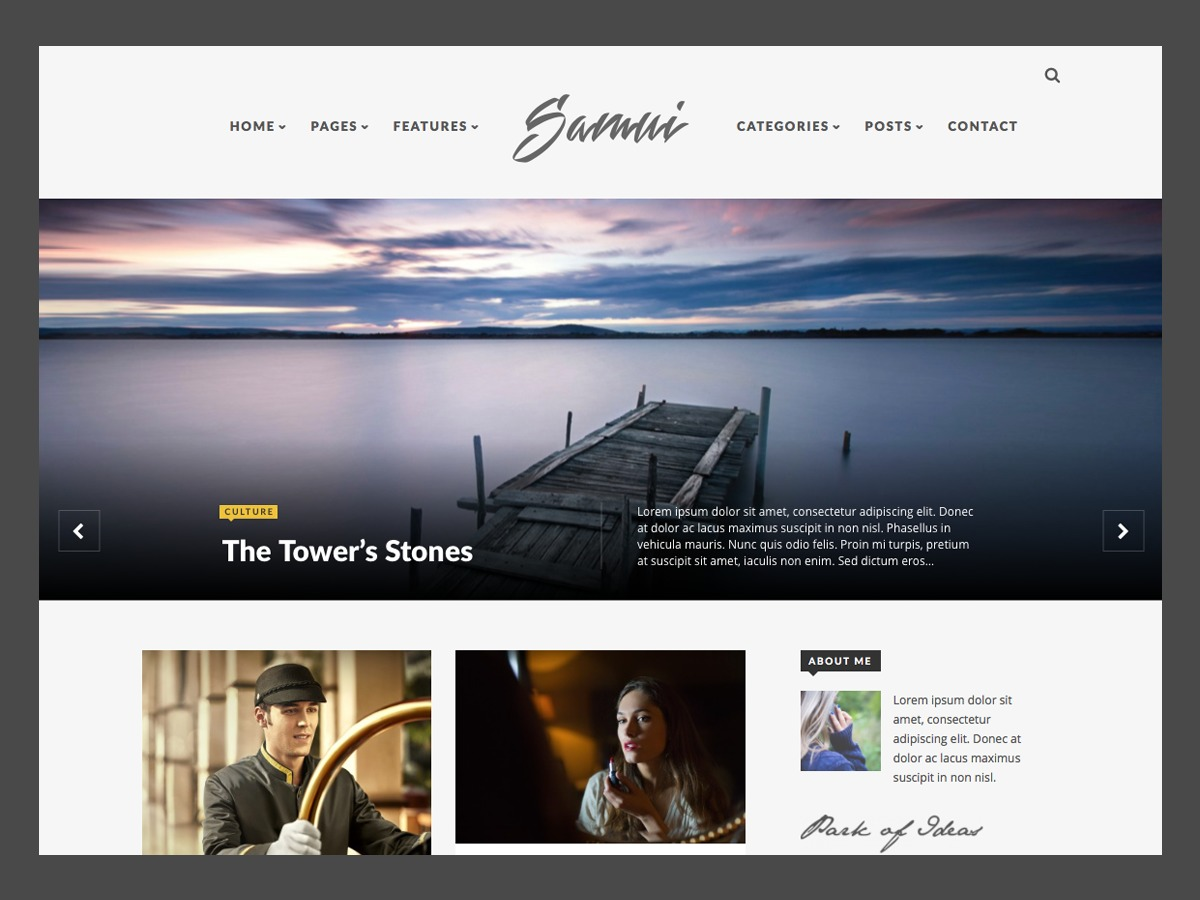 Samui WordPress blog template