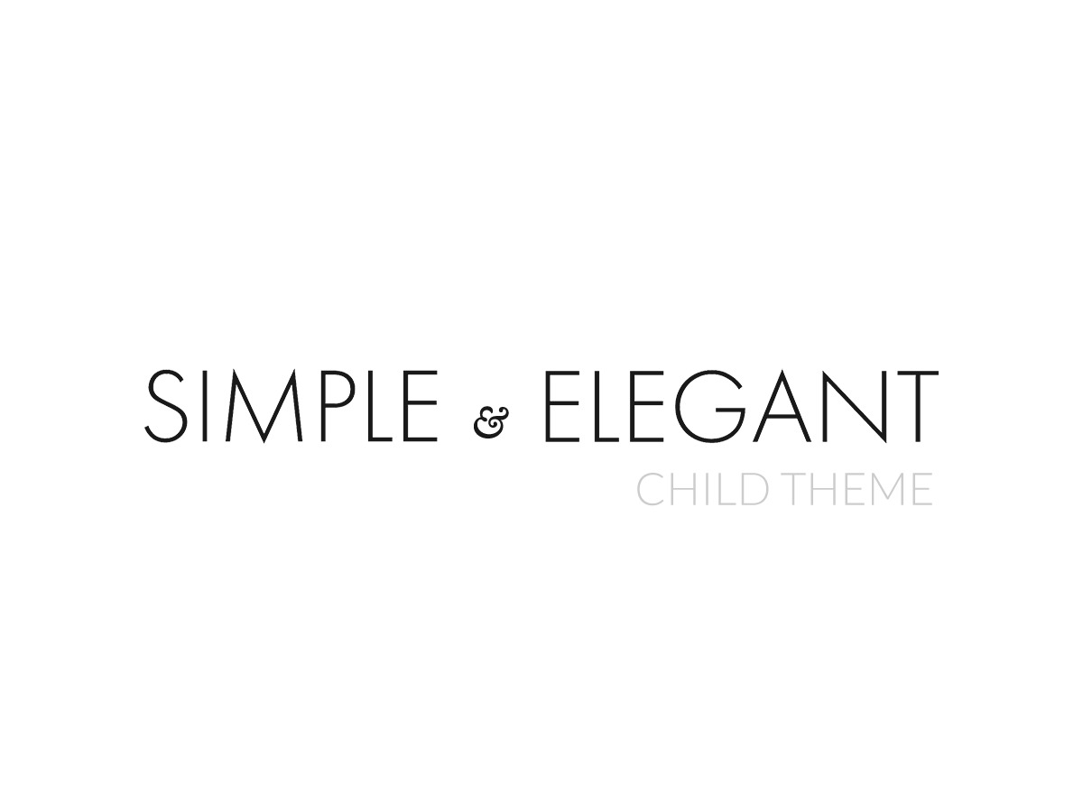 Simple & Elegant Child WordPress theme