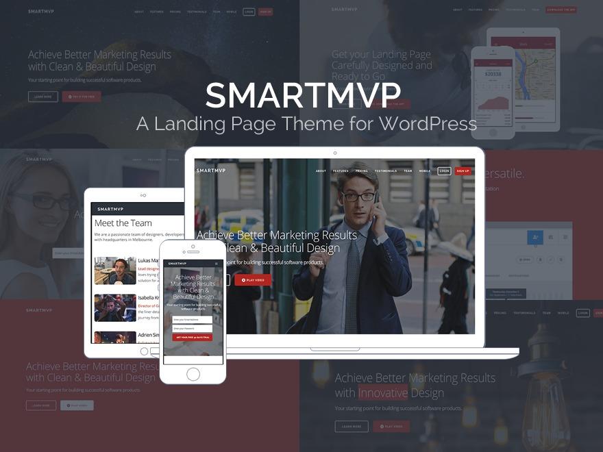 SmartMVP WordPress portfolio theme
