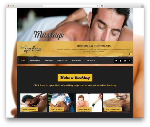 Spalon WordPress theme design - thesparoom.co.za