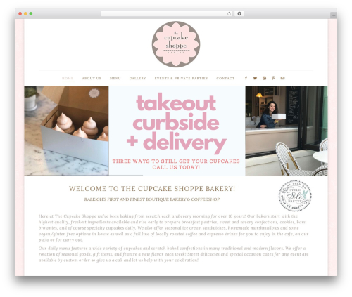 The7.2 WordPress ecommerce template - thecupcakeshopperaleigh.com