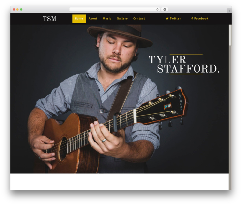 Theme WordPress FWRD - tylerstaffordmusic.com