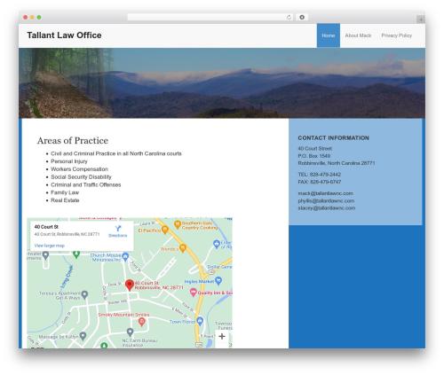 Theme WordPress The Modern Law Firm - tallantlawnc.com