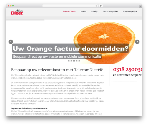 Trades WordPress theme design - telecomdieet.nl