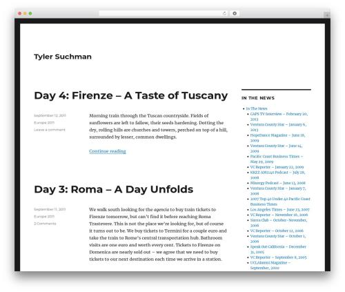 Twenty Sixteen WordPress template free download - tylersuchman.com