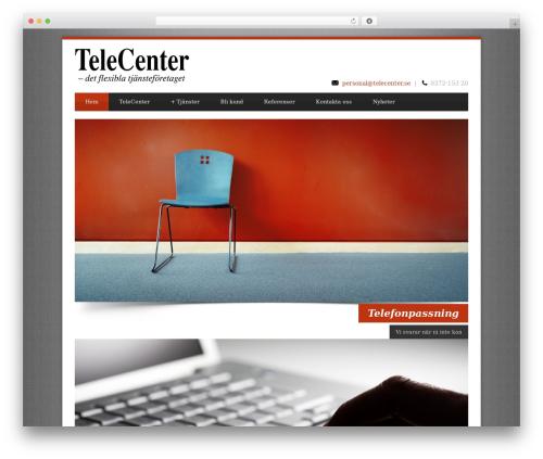 WordPress theme Blue Diamond - telecenter.se