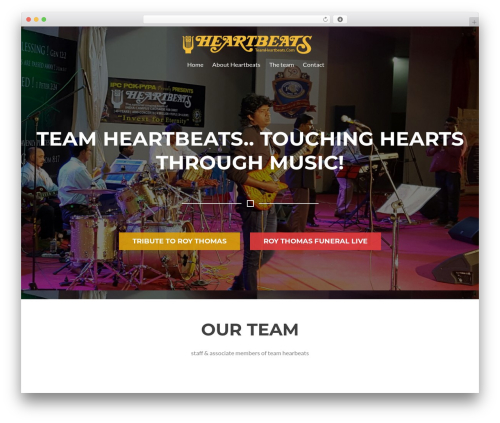WordPress theme Rise Lite - teamheartbeats.com