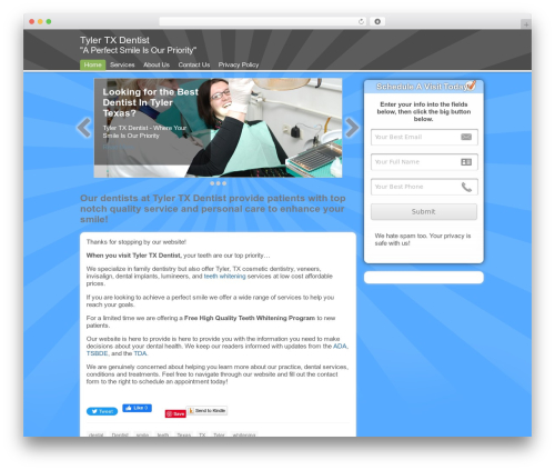 WordPress website template ClickBump - tylertxdentist.com