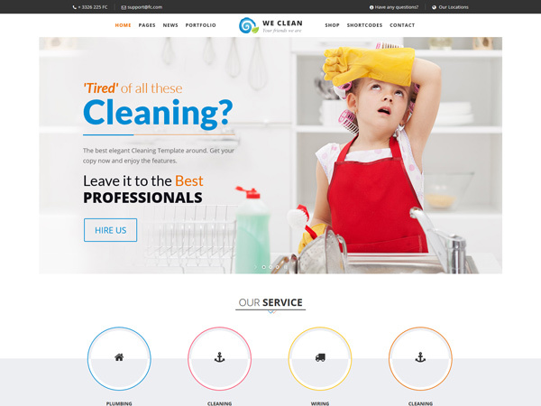 WP theme Cleaning