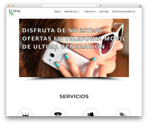 Zerif Lite theme WordPress - telecomcehegin.es