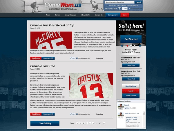 Game Worn Everything WordPress gaming theme