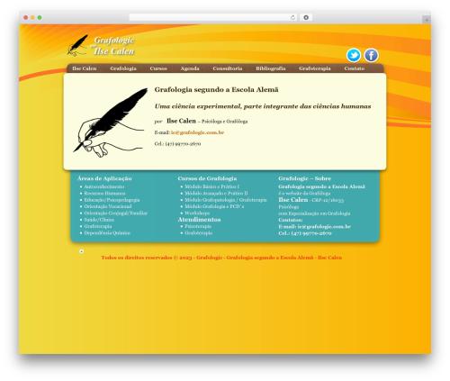 Genesis WordPress website template - grafologic.com.br