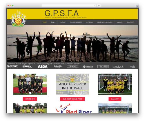 GoalKlub WordPress website template - gpsfa.com