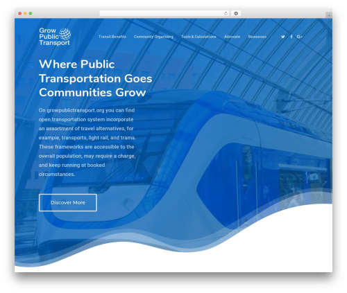 Salient WordPress theme - growpublictransport.org