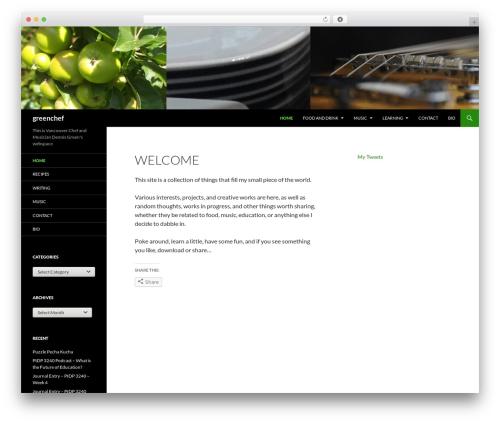 Twenty Fourteen WordPress template free - greenchef.ca