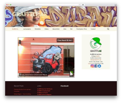 Twenty Thirteen premium WordPress theme - graffiti.ae