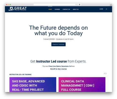 WPLMS WordPress theme design - greatonlinetraining.com
