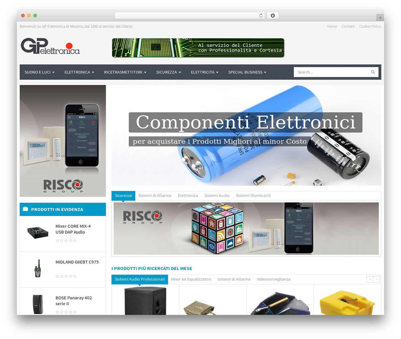 WPO Shopping WordPress ecommerce template - gpelettronica.it