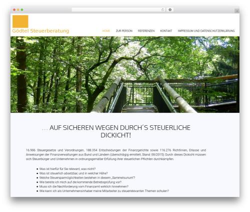 AccessPress Parallax WordPress theme - gstg.de