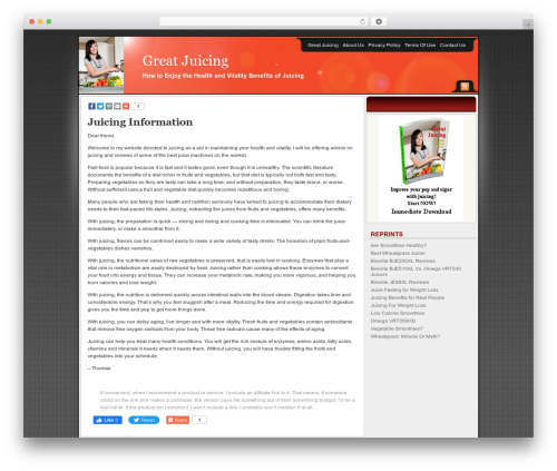 Affiliate Internet Marketing theme theme WordPress - greatjuicing.com