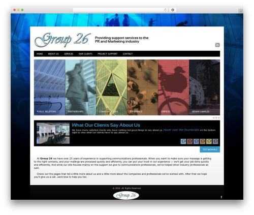 Innovation+Science business WordPress theme - group26inc.net