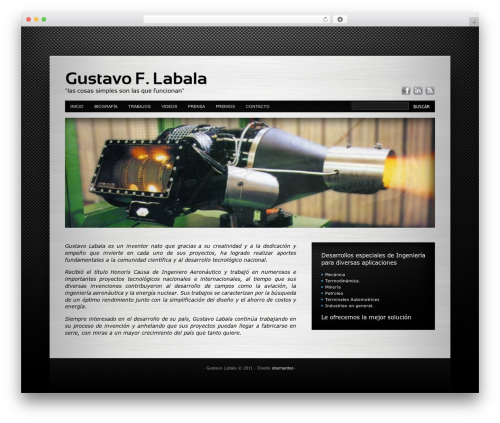 Innovation+Science WordPress theme - gustavolabala.com.ar