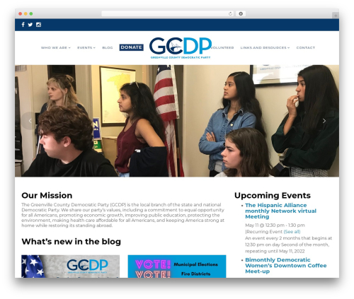 Politist WordPress theme - greenvilledemocrats.com