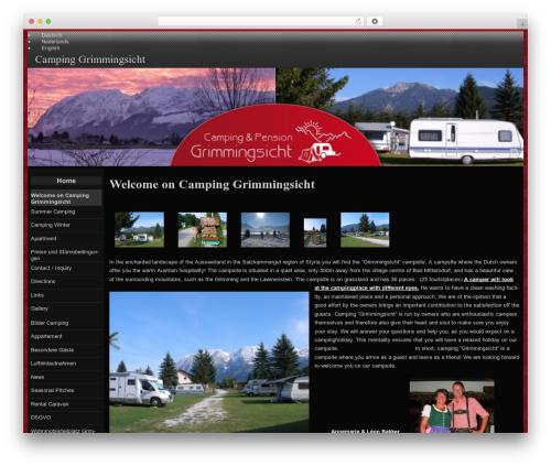raindrops free WordPress theme - grimmingsicht.at