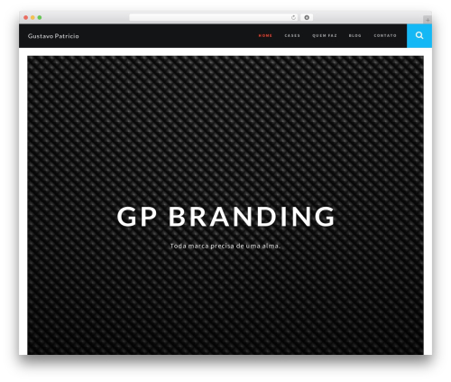RED:FOLIO best portfolio WordPress theme - gustavopatricio.com.br