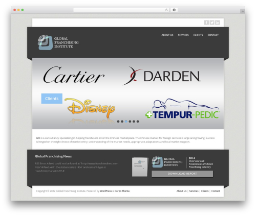 WordPress template Corpo - globalfranchisinginstitute.com