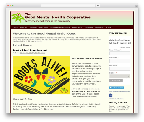 WordPress theme GMH - goodmentalhealth.org.uk
