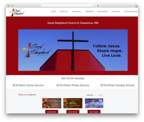 Anacron WordPress page template - goodshepherdowatonna.com