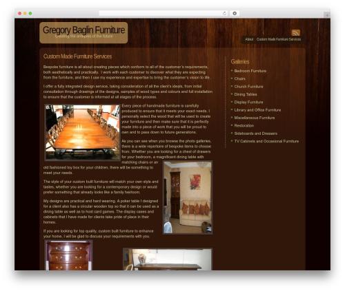 Dark Wood WordPress page template - gregorybaglinfurniture.co.uk