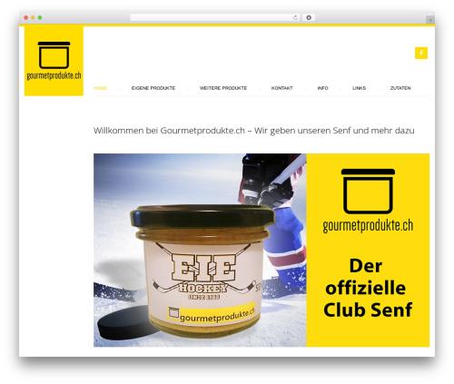 Klasik WordPress page template - gourmetprodukte.ch