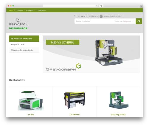 Media Center WordPress theme - gravotech.cl