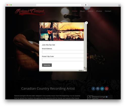Rock Star Pro WordPress theme - rolandcorrigal.com
