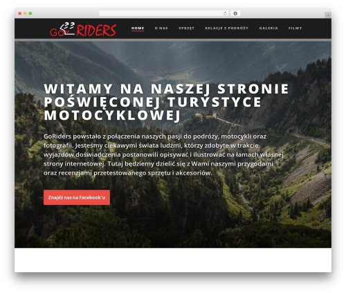 Suite WordPress theme - goriders.net