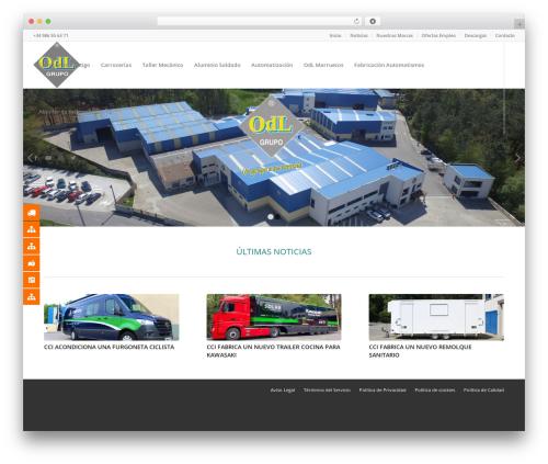 WordPress website template Enfold - grupoodl.es