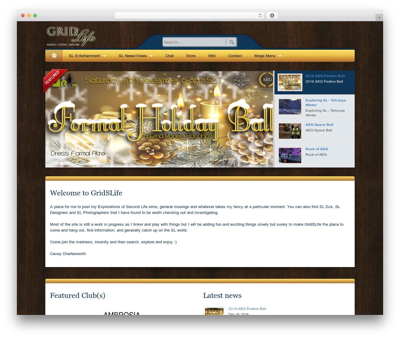 Bellissima WordPress website template - gridslife.com