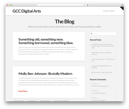 Best WordPress template X - gccdigitalarts.com