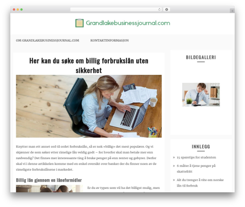 Gist premium WordPress theme - grandlakebusinessjournal.com