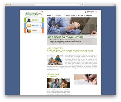 GotMortgage WordPress template - gotmortgagecorrespondent.com