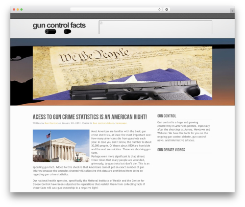 Inspire template WordPress - guncontrolfacts.org